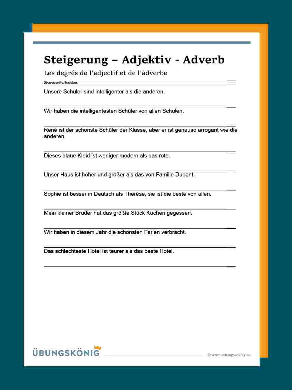 Steigerung Adjektive und Adverben