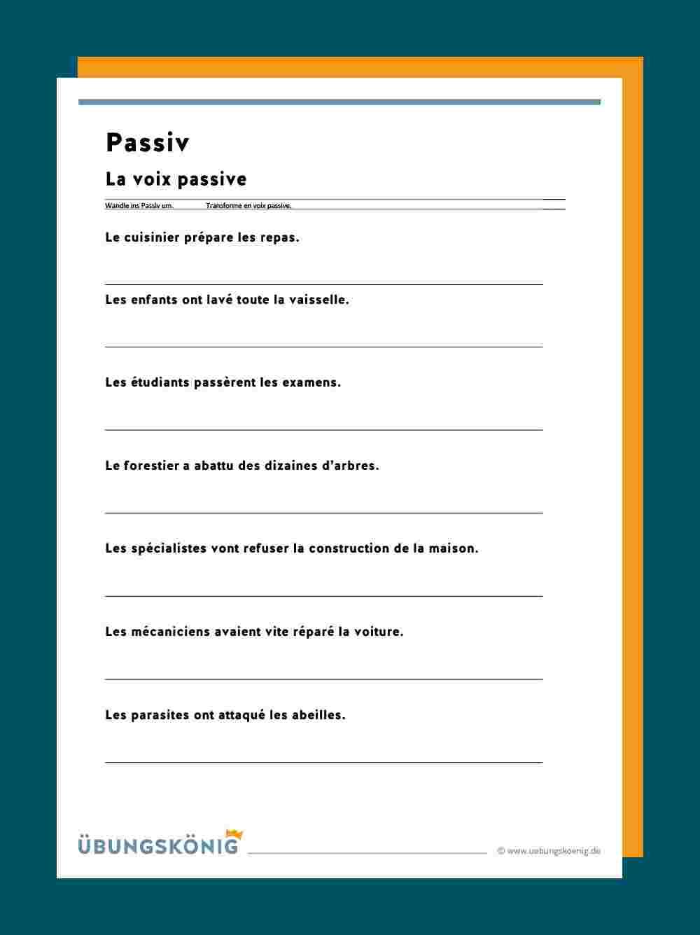 passive übungen pdf