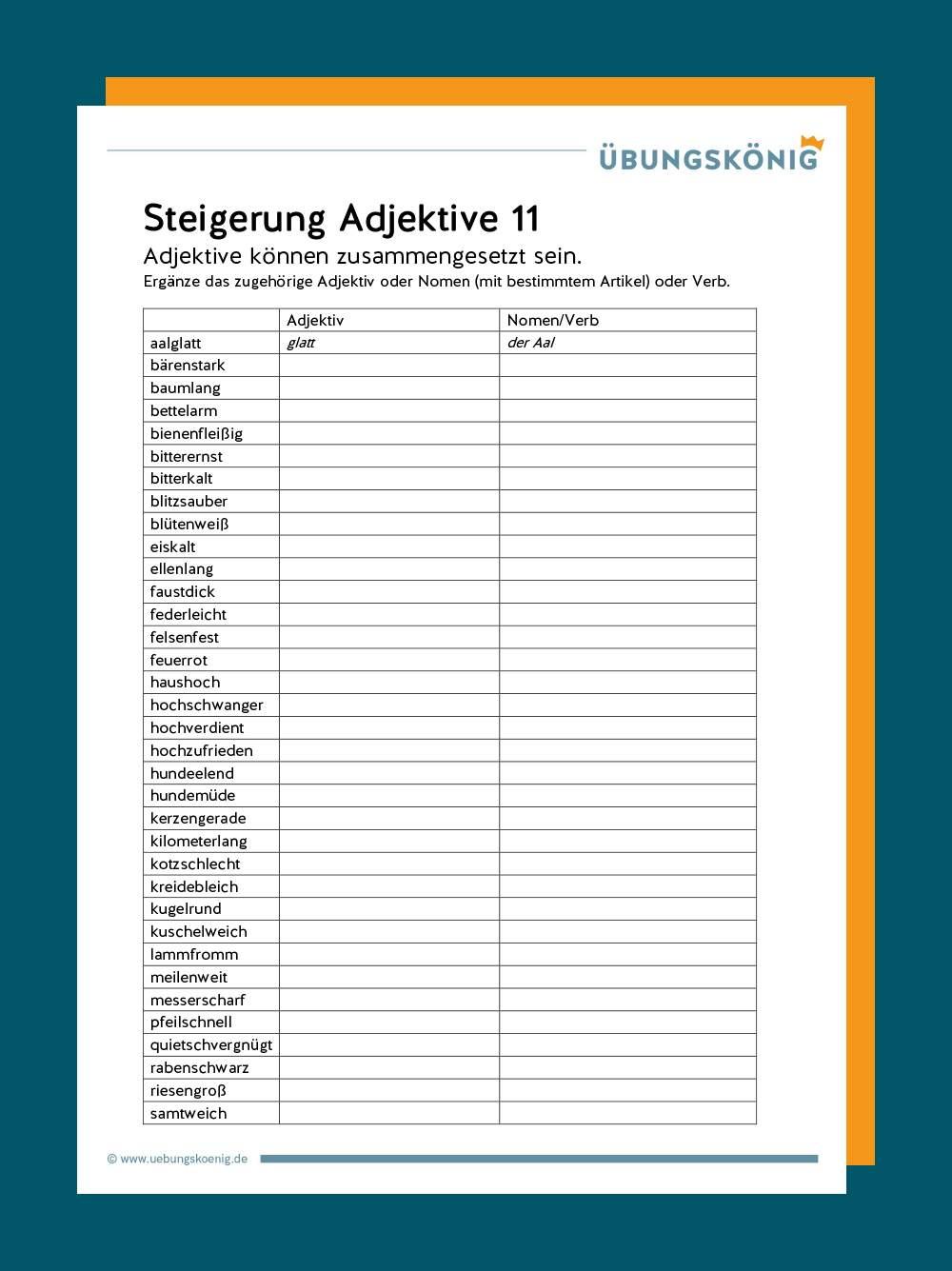 Adjektive Gegenteile Arbeitsblätter Pdf