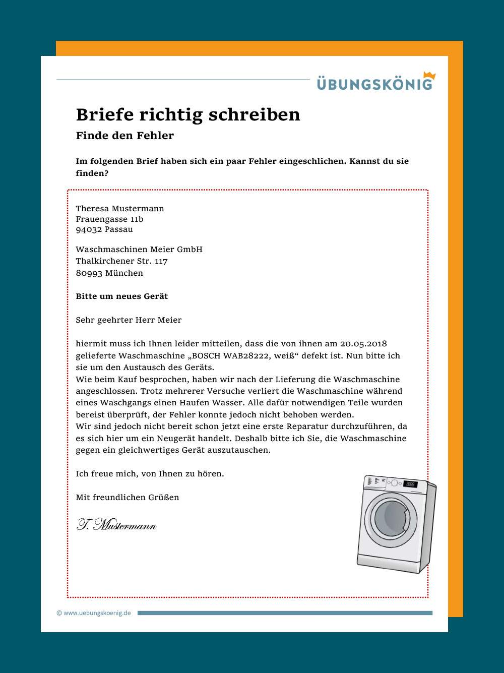 Reklamation Brief Beispiel Germania 0