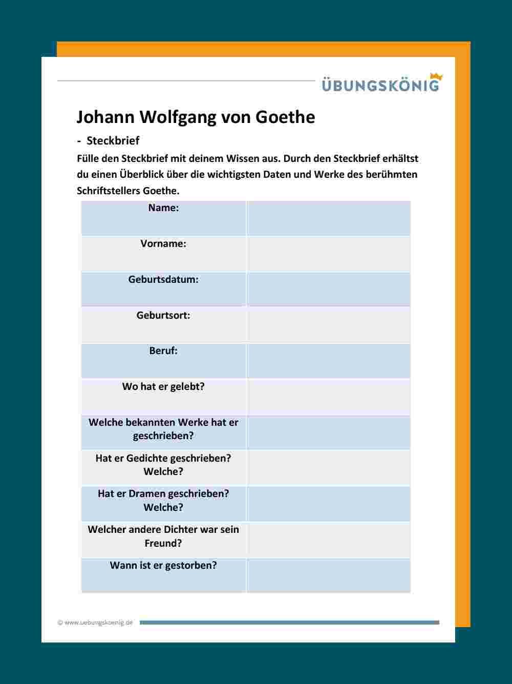 Johann Wolfgang Von Goethe 6