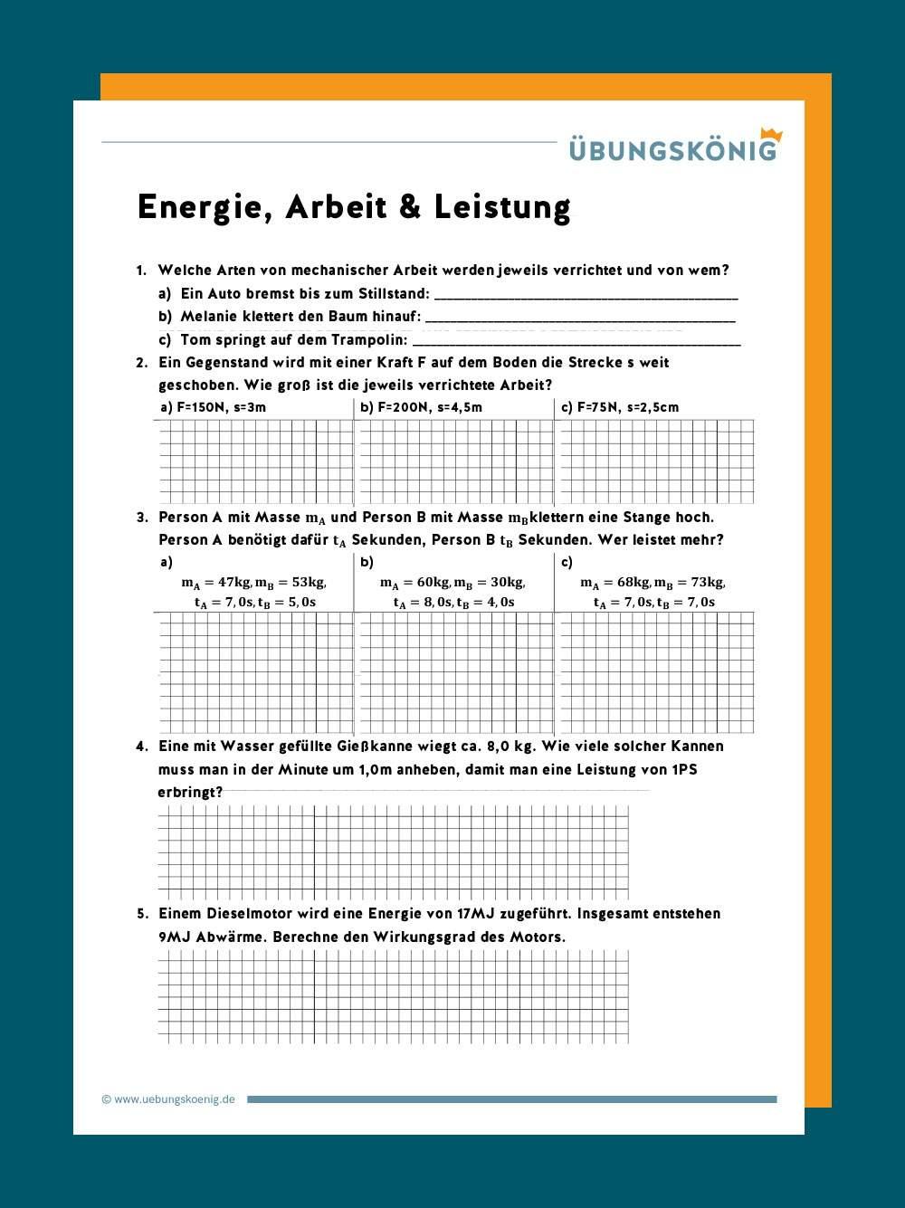 Energie Arbeit Und Leistung