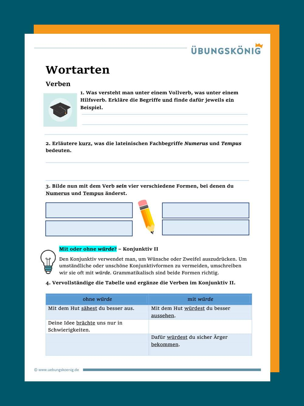 Zeitformen deutsch kostenlos test