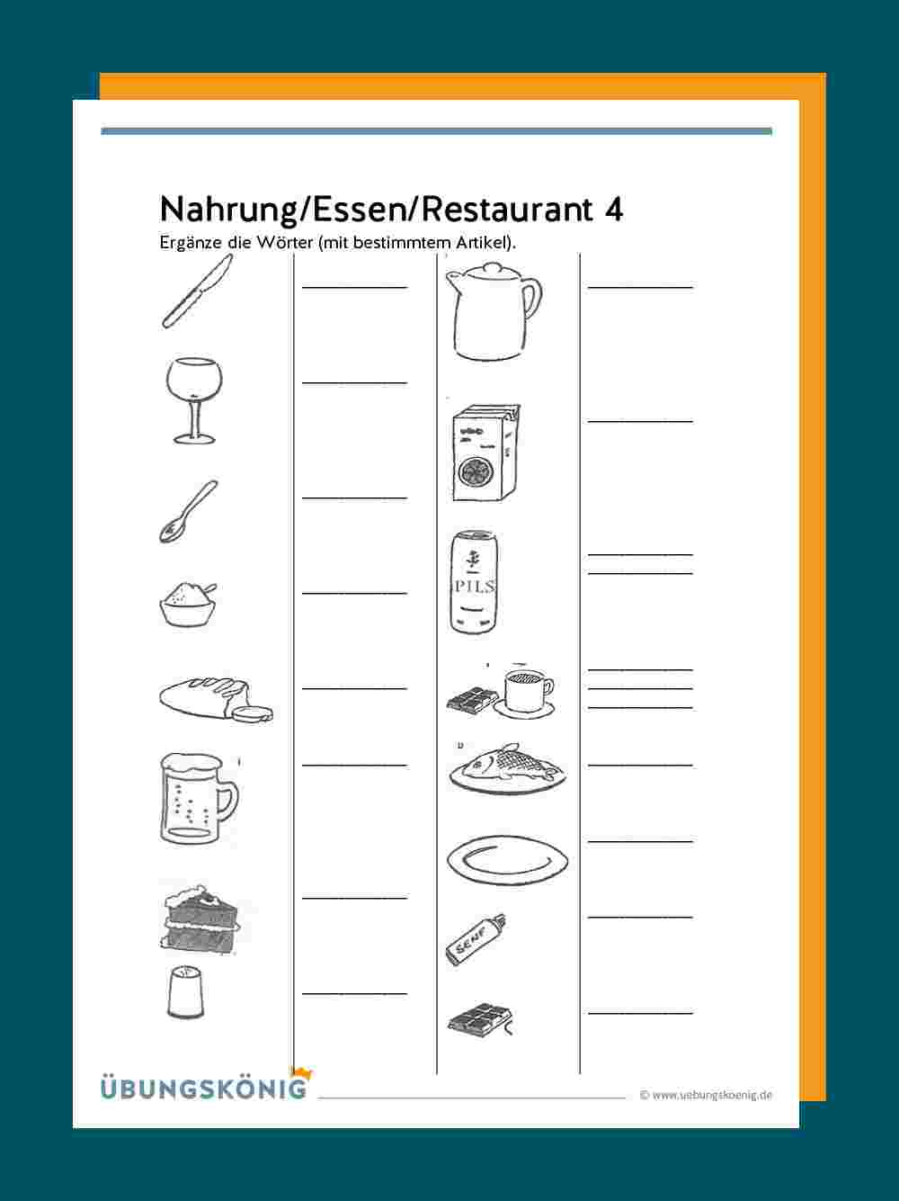 DaZ / DaF Nahrung, Essen, Restaurant