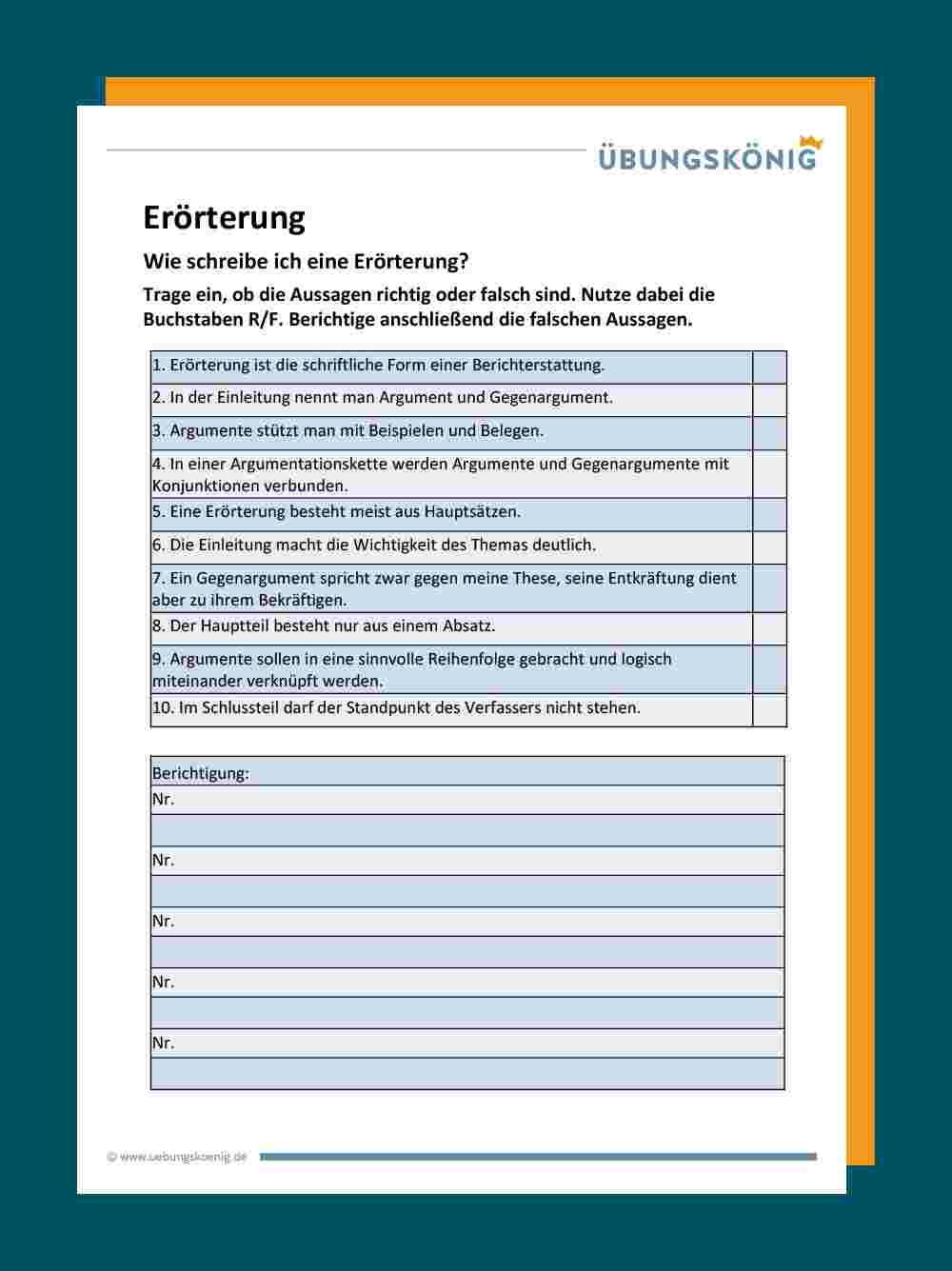 Deutsch Arbeitsmaterialien Themenbeispiele 4teachers De